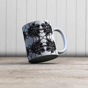 la Magie dans l'Image - mug graphic flowers white - Taza