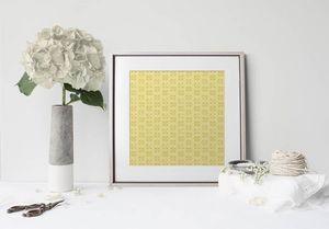 la Magie dans l'Image - print art lotus jaune foncé - Póster