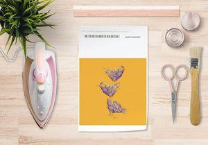 la Magie dans l'Image - papier transfert poules orange - Transfert