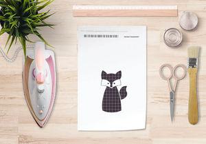 la Magie dans l'Image - papier transfert renard noir - Transfert