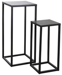 Aubry-Gaspard - sellettes en métal et pierre (lot de 2) - Pedestal