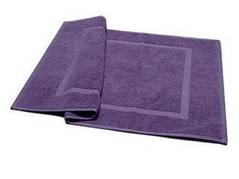 Liou - tapis de bain prune grisé - Alfombra De Baño