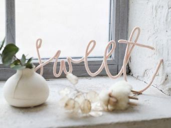 petit picotin - --le mot en laine - Letra Decorativa