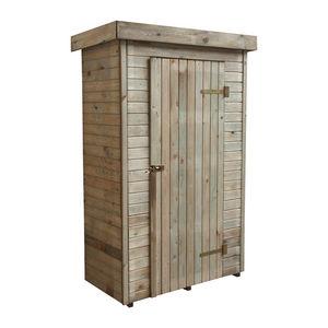 CEMONJARDIN - armoire de rangement en bois santiago - Guardaherramientas De Jardín