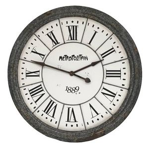 CHEMIN DE CAMPAGNE - grande horloge en zinc style campagne industriel 1 - Reloj De Pared