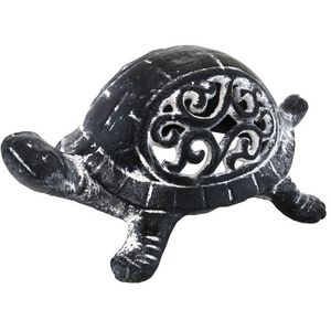 CHEMIN DE CAMPAGNE - statue de tortue cache-clef clé bougie photophore  - Candil