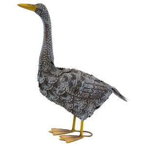 CHEMIN DE CAMPAGNE - statue sculpture canard en fer oiseau oiseaux de j - Ornamento De Jardín