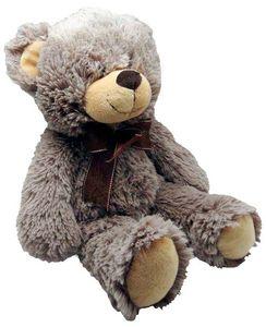 Aubry-Gaspard - peluche ours en acrylique gris foncé 30 cm - Peluche