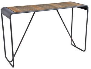 Aubry-Gaspard - console en bois et métal patiné - Consola