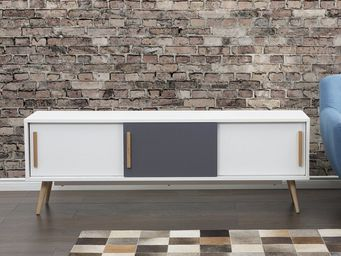 BELIANI - meuble à tiroirs - Mueble Tv Hi Fi