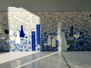 ANIS ET CÉLADON - Delphine Lescuyer -  - Azulejos De Mosaico Para Pared