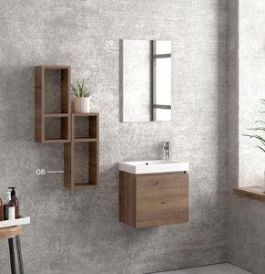 ITAL BAINS DESIGN - space 45 melamine - Mueble De Cuarto De Baño