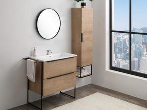 Vente-Unique.com - ensemble simple vasque elisa - Mueble Pila