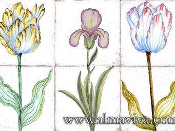 Almaviva - carreaux fleurs ? bulbes - Azulejos Para Cuarto De Ba�o