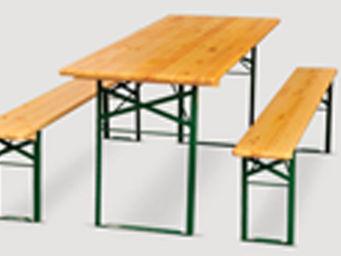 BARCLER - table brasserie et bancs - Mesa De Picnic