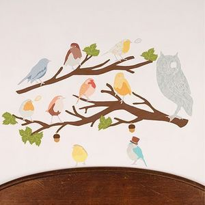Lovemae - cui-cui retro (sans les branches) - Adhesivo Decorativo Para Niño