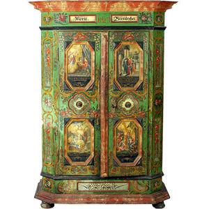 ARADER GALLERIES - armoire de mariage bavaroien bois peint - Armario Matrimonial