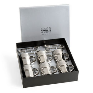 MAISONS DU MONDE - coffret 6 tasses café silver - Taza De Café