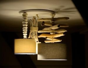 Coc'Art Créations - 3 mâts - Lámpara Colgante