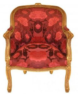 Demeure et Jardin - fauteuil bergère velours - Butaca