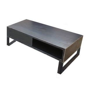 Mathi Design - meuble tv steel 120 - Mueble Tv Hi Fi