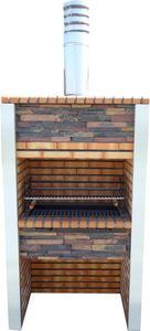 DECO GRANIT - barbecue en brique et inox - Barbacoa De Carbón
