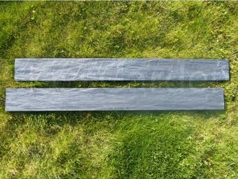 CLASSGARDEN - bordure piquet d'ardoise scie 1 mètre - pack de 1 - Borde De Jardín