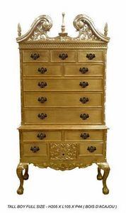 DECO PRIVE - commode tall boy en bois dore - Mueble De Cajones