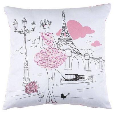 La Chaise Longue - Cojín cuadrado-La Chaise Longue-Coussin romantique les parisiennes polyester et co