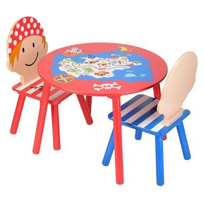 La Chaise Longue - Mesa de juegos por niños-La Chaise Longue-Salon pour enfant pirates 1 table et 2 chaises