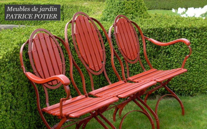 PATRICE POTIER Panchina da giardino Panchine per esterni Giardino Arredo  | Charme