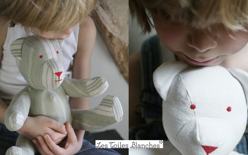 LES TOILES BLANCHES Orsetto in tessuto Pupazzi e Peluche Giochi e Giocattoli  |