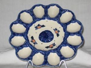 Ceramique Polonaise Piatto per uova