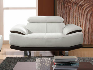 WHITE LABEL - fauteuil cuir osmoz - Poltrona