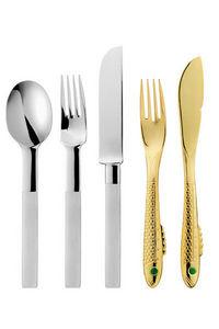 GENSE - nobel gold & silver - Posate Da Tavola