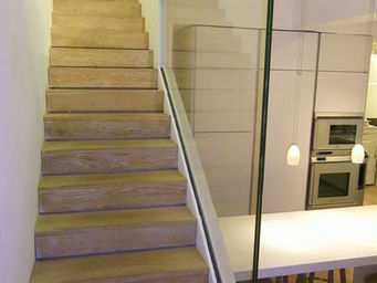 TRESCALINI - raily : garde-corps verre clair toute hauteur - Ringhiera