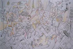 Michel Maugee -  - Disegno A Inchiostro