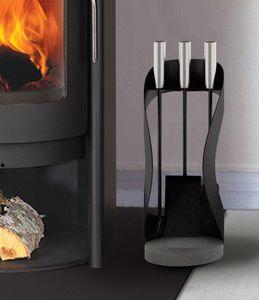 Rais - buteo fire tool set - Porta Attrezzi Per Camino