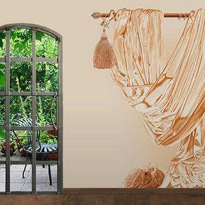 ATELIER MARETTE - draperie sable, sand - Carta Da Parati Panoramica