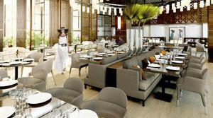 Agence Nuel / Ocre Bleu - marriott rabat - Idee: Sale Ristorante Albergo