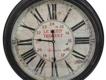 Antic Line Creations - horloge bistrot le petit troquet 62cm - Orologio A Muro