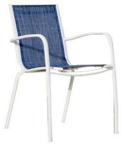 PROLOISIRS - fauteuil linea en aluminium et textilène jean's ( - Poltrona Da Giardino