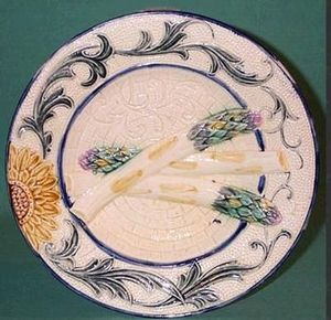 Barbotine Belge -  - Piatto Per Asparagi
