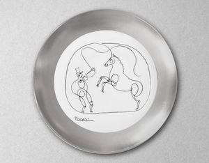 MARC DE LADOUCETTE PARIS - cheval et dompteur-- - Piatto Rotondo