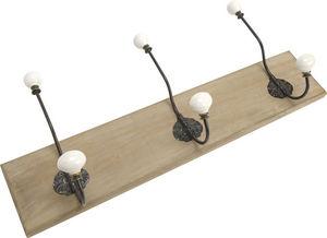 Amadeus - patère bois avec crochets en métal cesar - Appendiabiti Da Parete