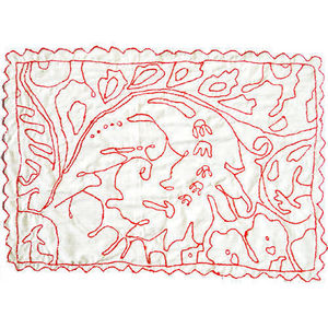 PO! PARIS - tissus décoré à la main - Tovaglietta All'americana