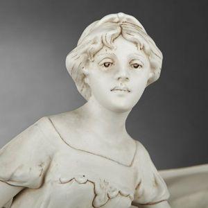 Expertissim - jardinière en royal dux à motif art nouveau - Fioriera