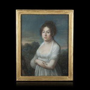 Expertissim - geneviève favard. pastel. portrait présumé de mada - Ritratto