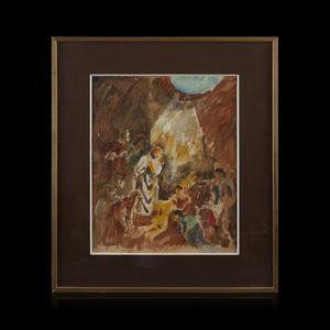 Expertissim - charles dufresne. scène biblique - Tappeto Beloutche