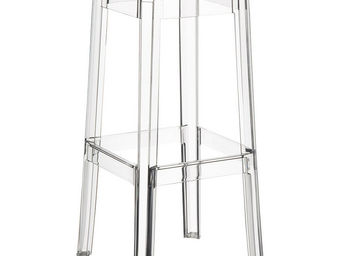 Alterego-Design - tabouret de bar 'leno' transparent en technopoly - Sgabello Da Bar